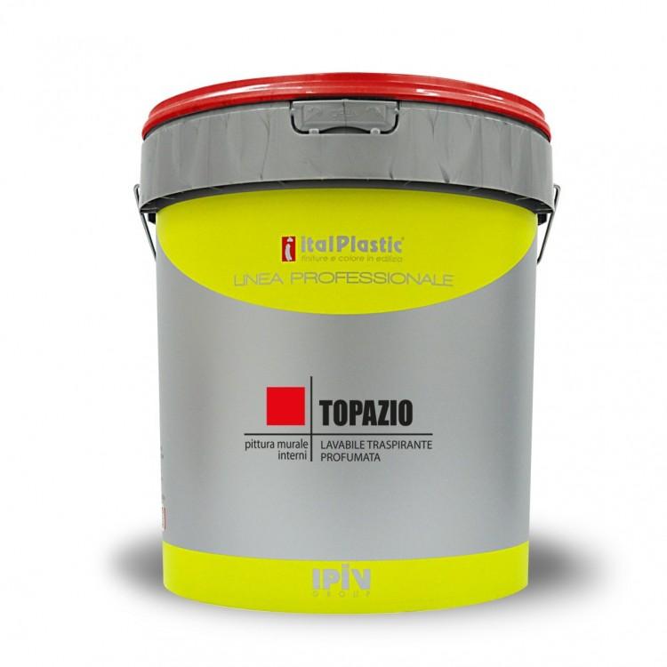 Idropittura lavabile per interni a buona copertura, a base di resine vinilacriliche TOPAZIO