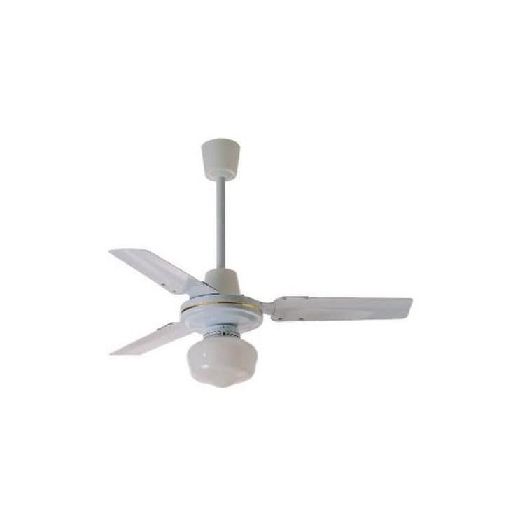 Zephir Ventilatore da Soffitto in Metallo con Lampada, Bianco
